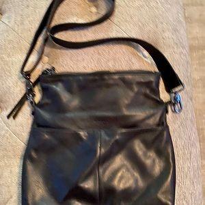 margot Bags - Mickey Double Zip Versatile Hobo in Black Purse